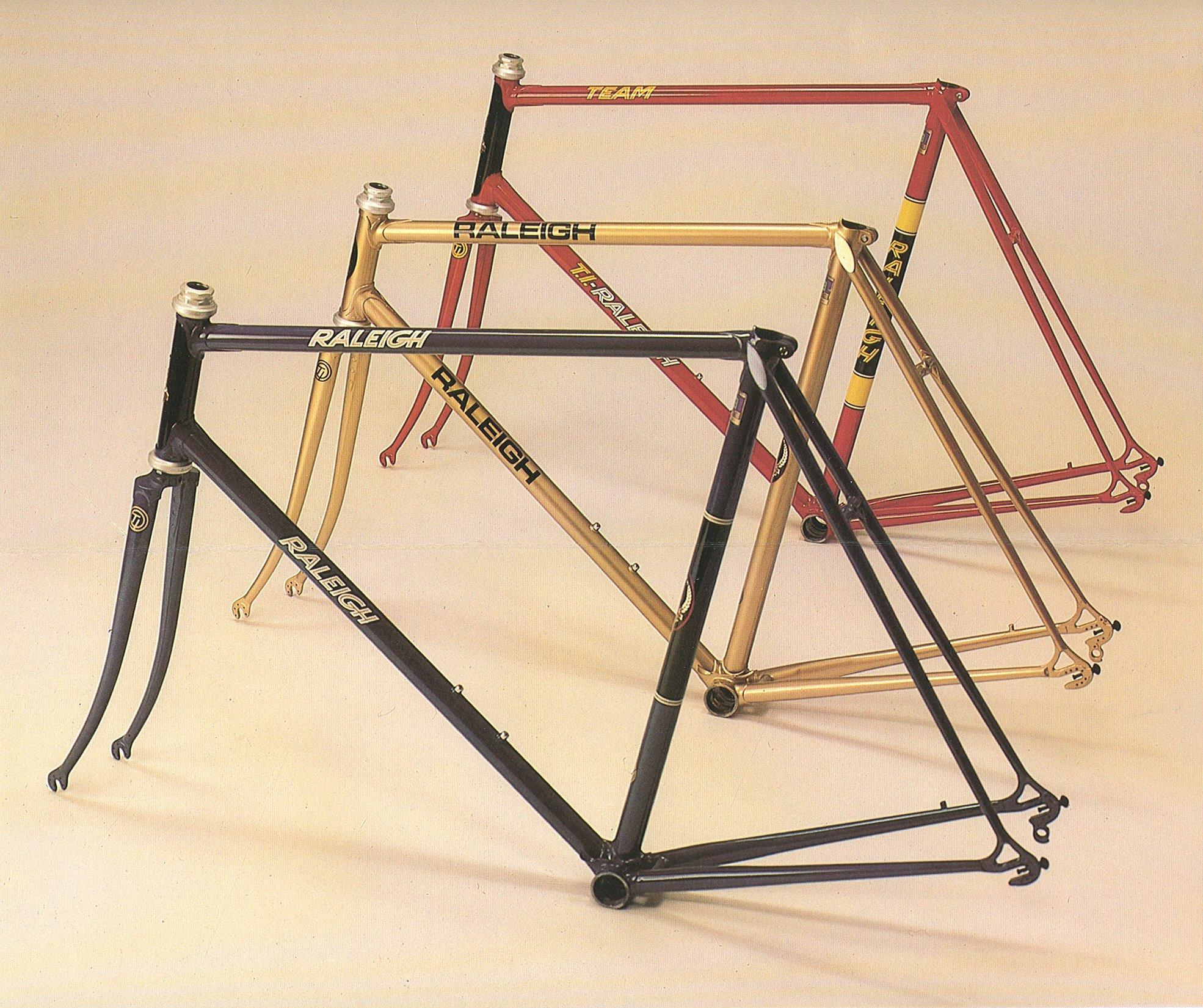 80er pro frames raleigh team