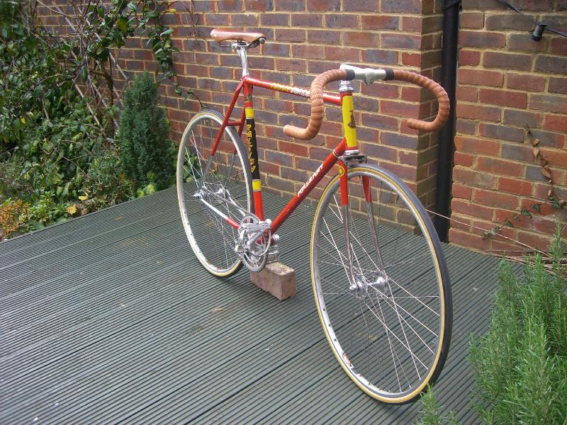 1974 raleigh team track frame and fork