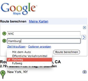 bikethere googlemaps