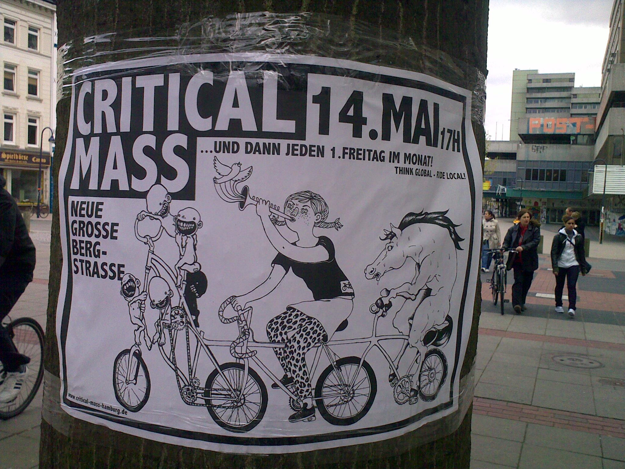 critical mass hamburg 2010 plakat